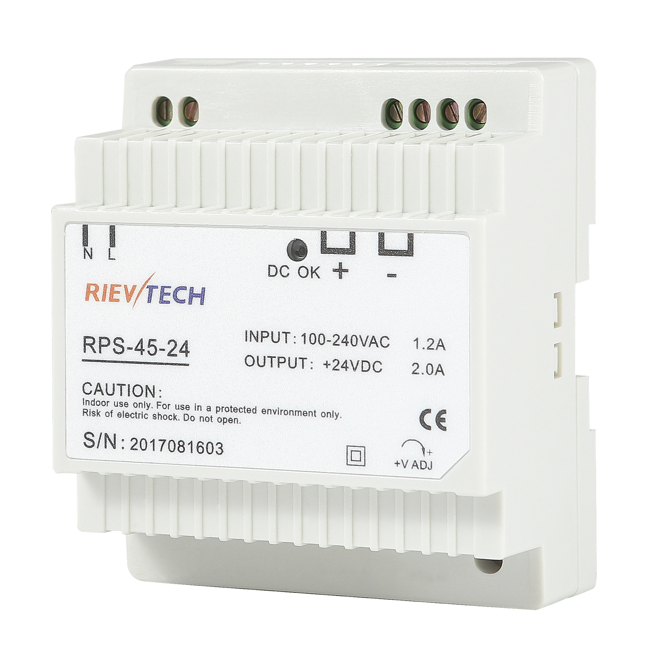 45W-DIN Rail switching power supply RPS-45 series